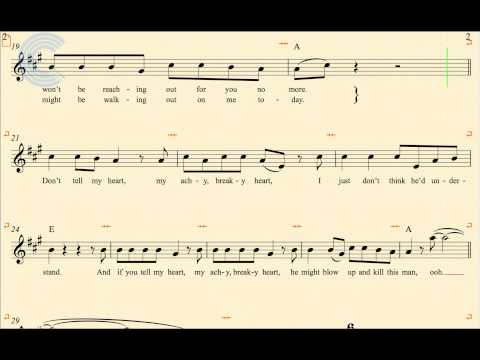 Flute - Achy Breaky Heart - Billy Ray Cyrus - Sheet Music, Chords, & Vocals