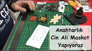 Deri Anahtarlık Maskot Yapıyoruz, Cin Ali   Leather Keychain Mascot Doing