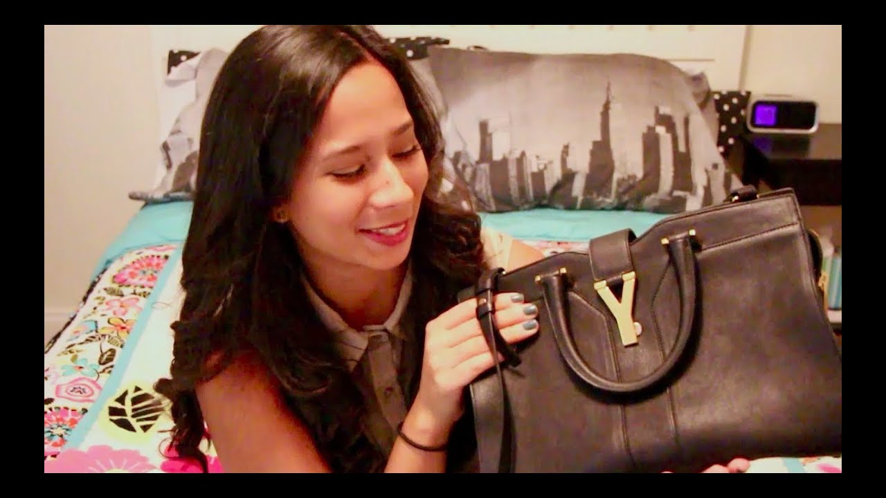 black ysl bag - Review: YSL Mini Cabas Chyc Bag + mini what\u0026#39;s in my bag! - YouTube