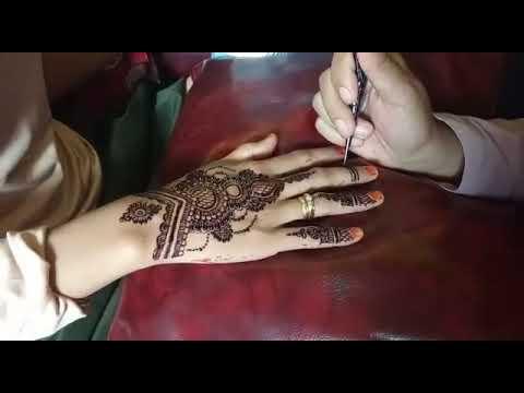 Melukis Henna Tangan Cantik Simple Dan Sederhana Untuk Pemula Youtube