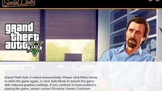 GTA V - Erro Modo de Segurança no PC com Steam
