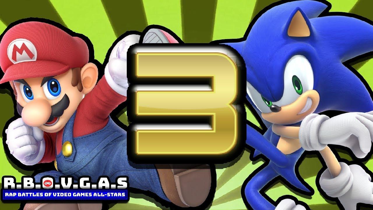 Mario Vs Sonic [ROUND 3] (Rap Battles Of Video Games All-Stars)(Season 6)
