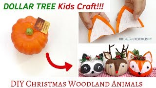 DIY Dollar Tree Woodland Animals