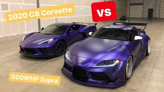 Racing my C8 Corvette vs my Supra