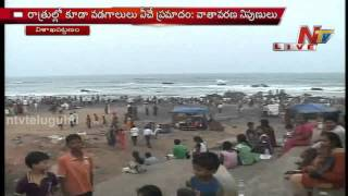 Heavy rush at Vizag RK beach due to high temperature
