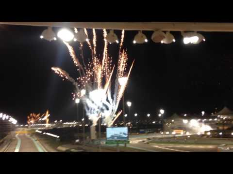 Abu Dhabi Grand Prix 2016 After Race Fireworks and Warm-down lap