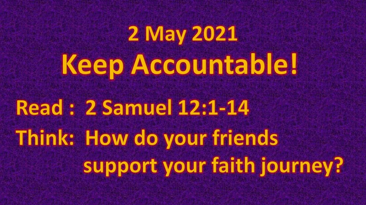 Youth bible lesson - 2 May 2021