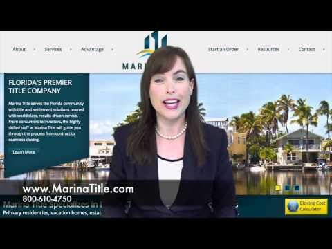 Marina Title Florida's Premier Title Company