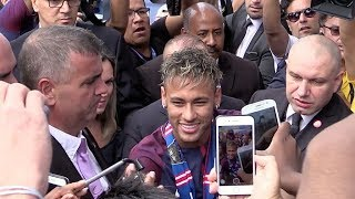 CRAZINESS as Neymar Jr is introduced to PSG fans in Paris