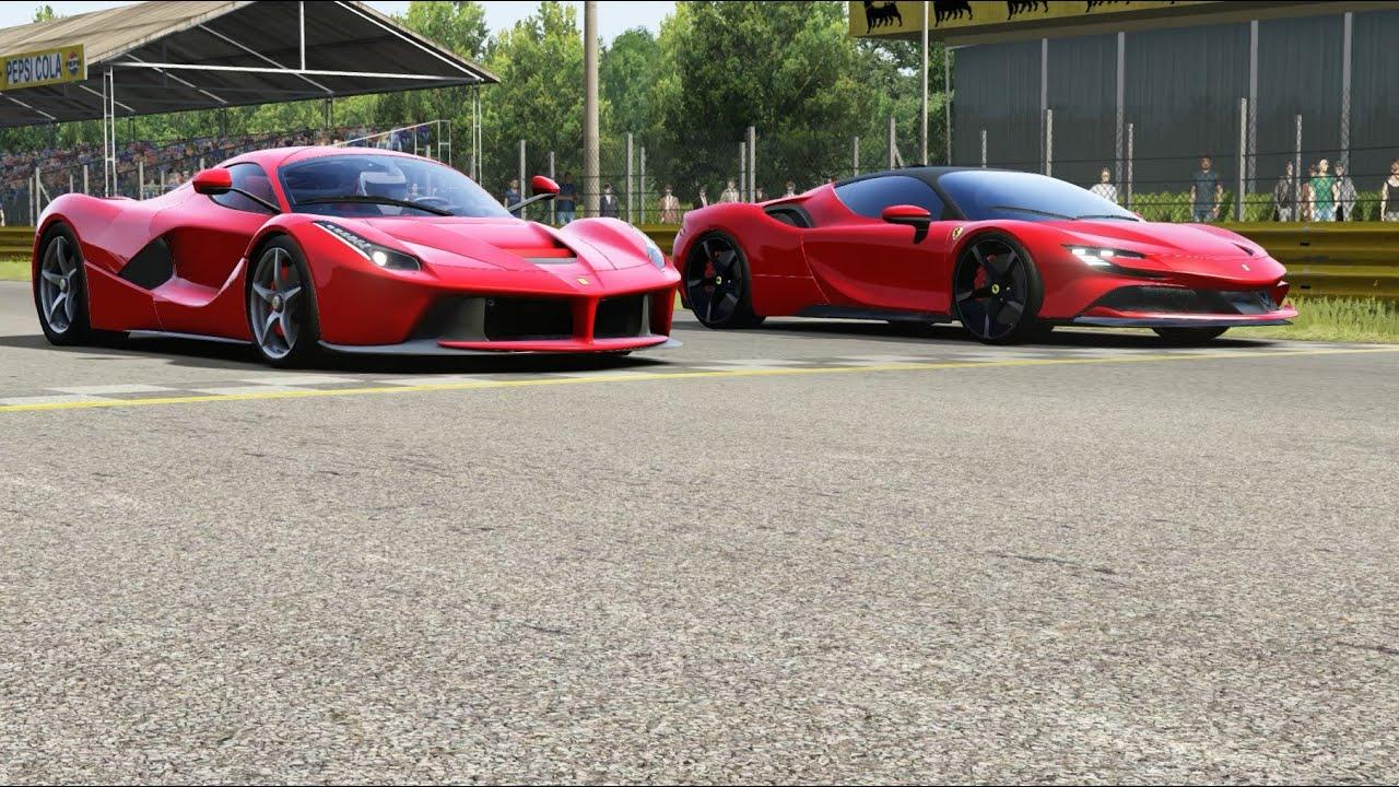 Alfa Romeo 8C-R Tazio 2020 vs Ferrari SF90 Stradale 2020 at Monza Full Course