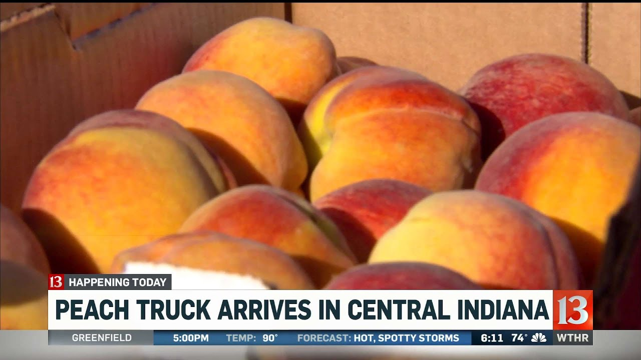 Peach Truck arrives in central Indiana