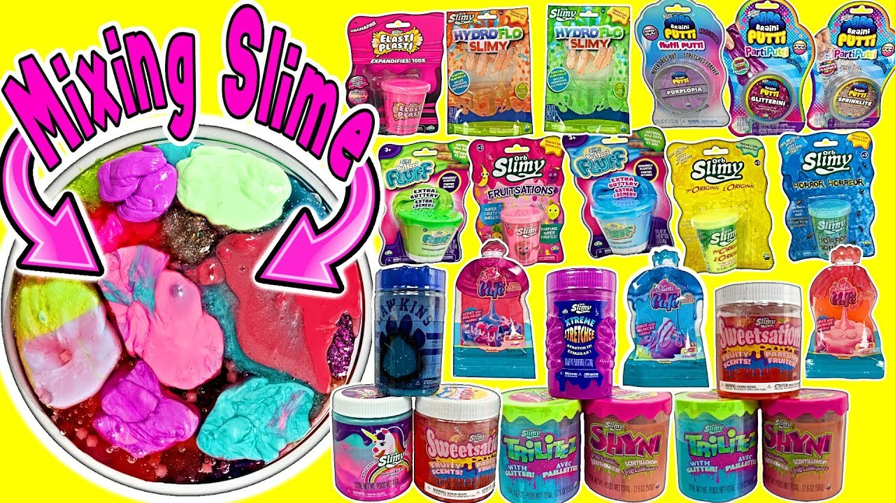 Mixing Slime Giant Slime Smoothie Mixing All My Slimes