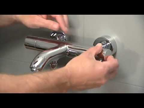 Exposed bath shower mixer - Inlet filter: maintenance and replacement