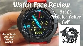 Samsung Watch Face Review : Szazs Predator Gear S3 Galaxy Watch Gear Sport