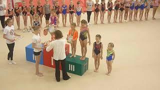 Награждение на соревнованиях по ОФП спортивной гимнастике Барнаул 13.10.2018