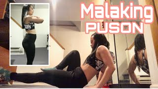 DAY 1 MALAKING PUSON AT TYAN?? + PAMPAPAYAT FAST AND EASY WORKOUT 7 DAYS CHALLENGE