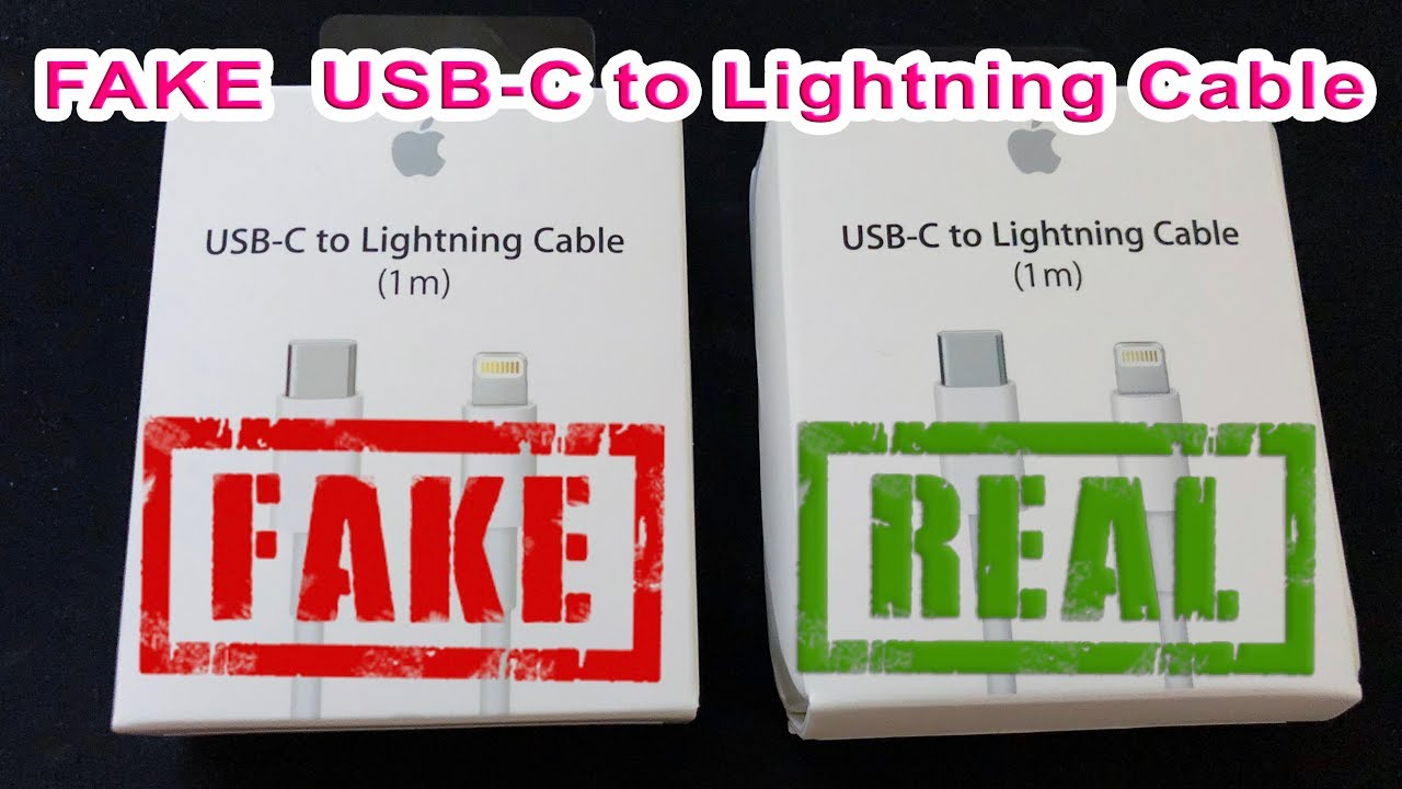 c3992cc56 Fake Apple USB C To Lightning Cable iPhone X Fast Charging - YouTube