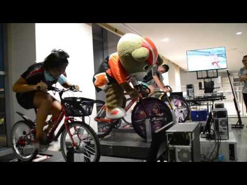 りんりんバーチャル自転車ゲームサイクルスピリッツに挑戦2015/08/22|函館競輪