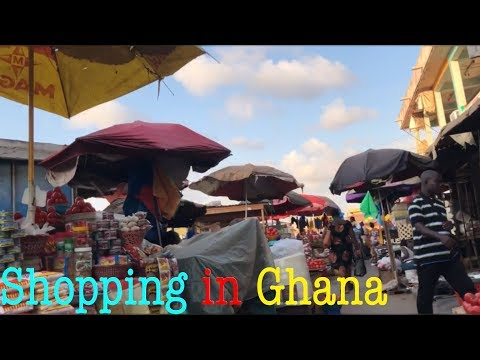 Life At Accra Market ||African Market - , Ghana