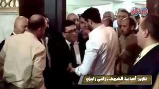 احمد عز واحمد وفيق و احمد حسن فى عزاء الفنان الراحل سامى العدل