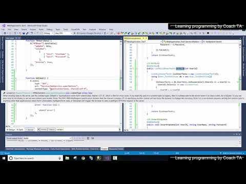 Post web service (.asmx) using Jquery Ajax - หัดเขียน Web Application ด้วย Visual studio C# Part#7 thumbnail
