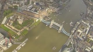 Helicopter Flight over London amazing video the hole flight GoPro Hero 3 Black Full HD