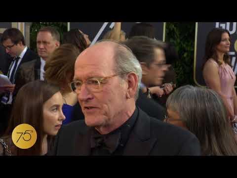 Richard Jenkins on 75th Golden Globes Red Carpet