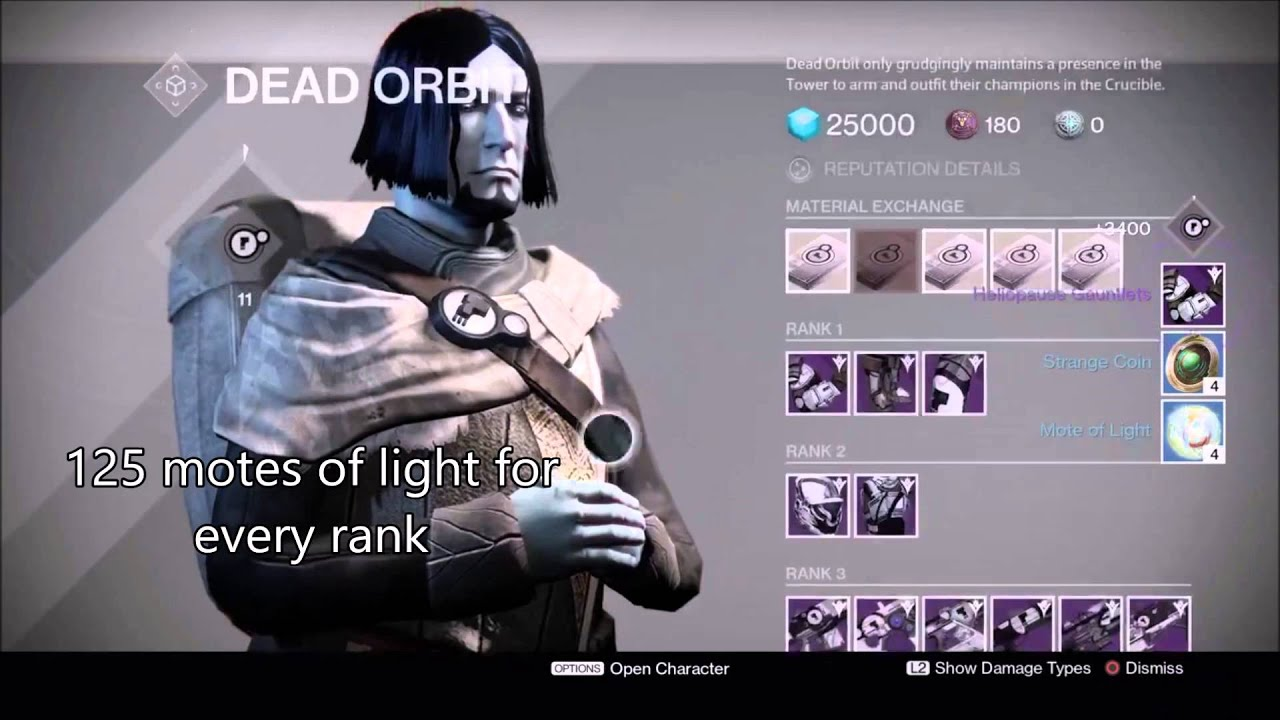 Destiny ranking up faction dead orbit 9 ranks in 2 minutes