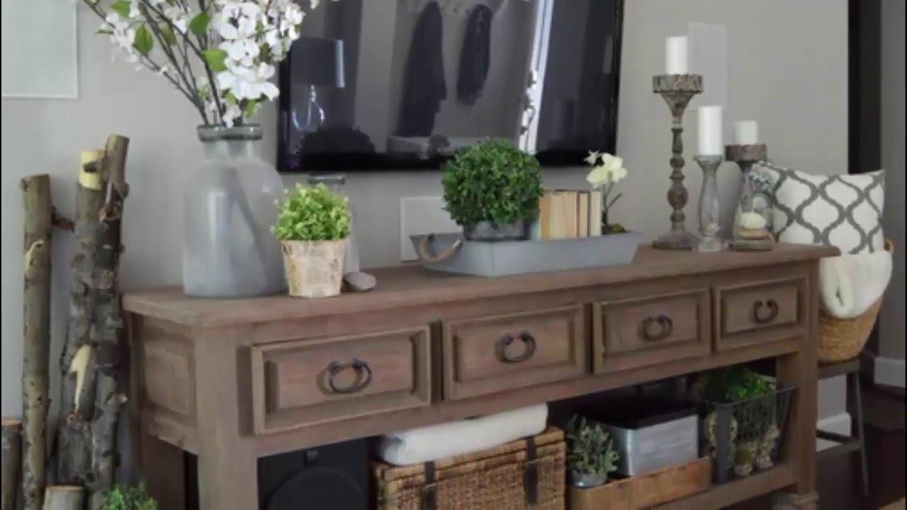 10 Creative rustic living room decorating ideas - YouTube