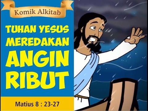 Tuhan Yesus Meredakan Angin Ribut Film Animasi Slide Alkitab Gereja
