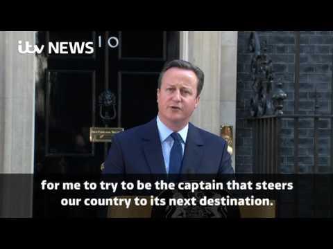 David Cameron resigns: His statement