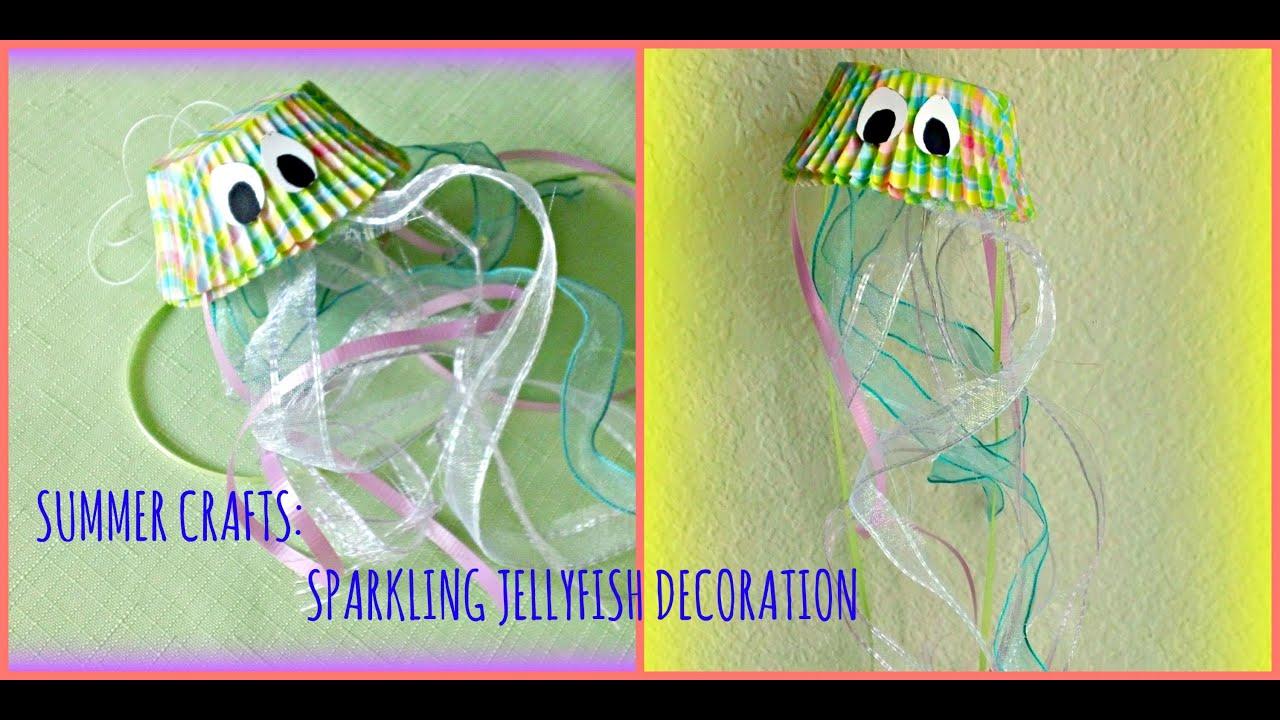 Kids Summer Crafts Sparkling Jellyfish Decoration