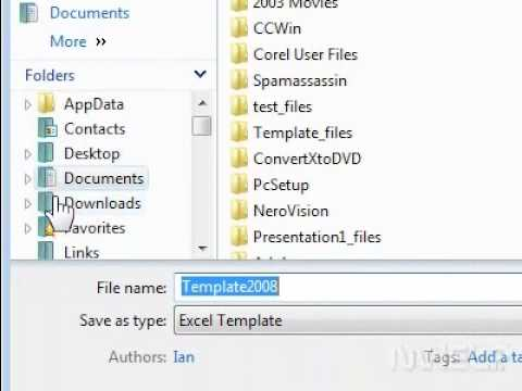 How to create a workbook based on another template in Excel - YouTube
