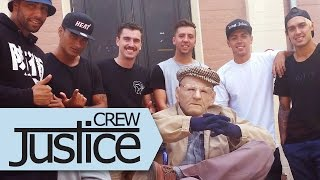 Repeat youtube video DANCING GRANDPA PRANK by Justice Crew feat. The Royal Stampede