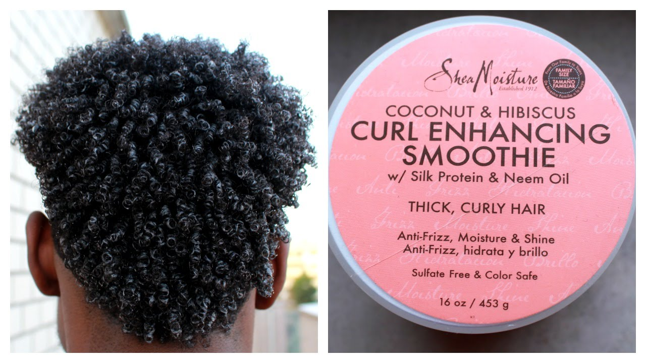 How To Curl Men Hair With Shea Moisture Smoothie Curling