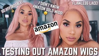 TESTING CHEAP AMAZON WIGS!!!!??? | WAIT A MINUTE!