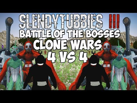 I'M SHOCKED BY HOW GOOD THIS TEAM IS | SLENDYTUBBIES 3 BATTLE OF THE BOSSES CLONE WARS 4 VS 4