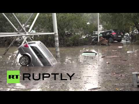 Italy: Parma floods have SWALLOWED hundreds of cars