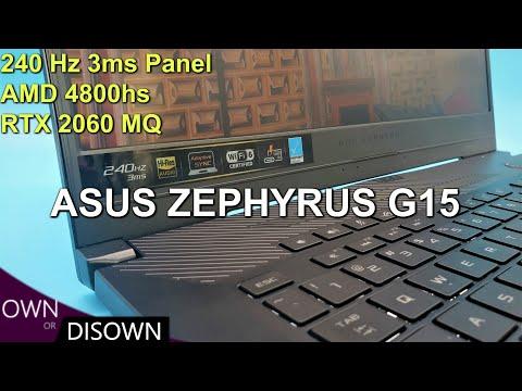 BEST RYZEN 7 LAPTOP ? ASUS ZEPHYRUS G15 - 240 Hz 3ms / RTX 2060