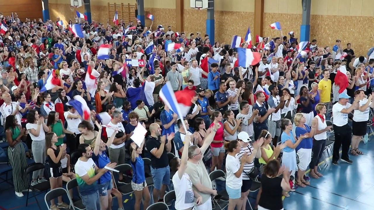 Retransmission de la finale de la Coupe du monde de foot à Serris