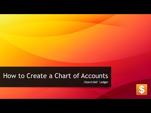Church360° Ledger - How to Create a Chart of Account