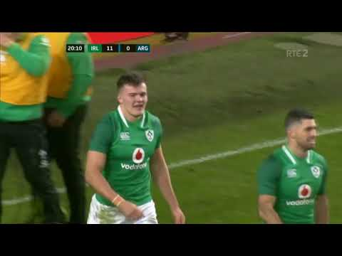 Amazing Jacob Stockdale try after great hands from Johnny Sexton and Chris Farrell