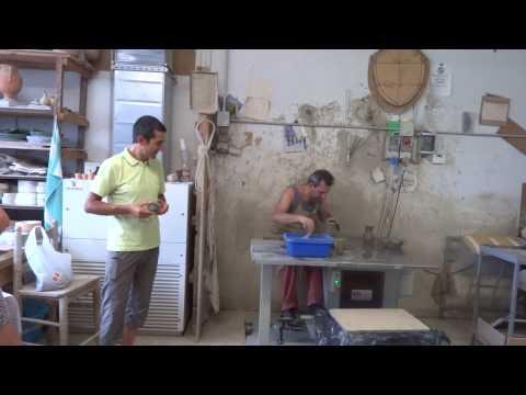 Italian Ceramic Factory In Deruta, Italy