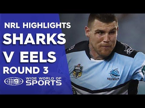 NRL Highlights: Parramatta Eels v Cronulla Sharks - Round 3