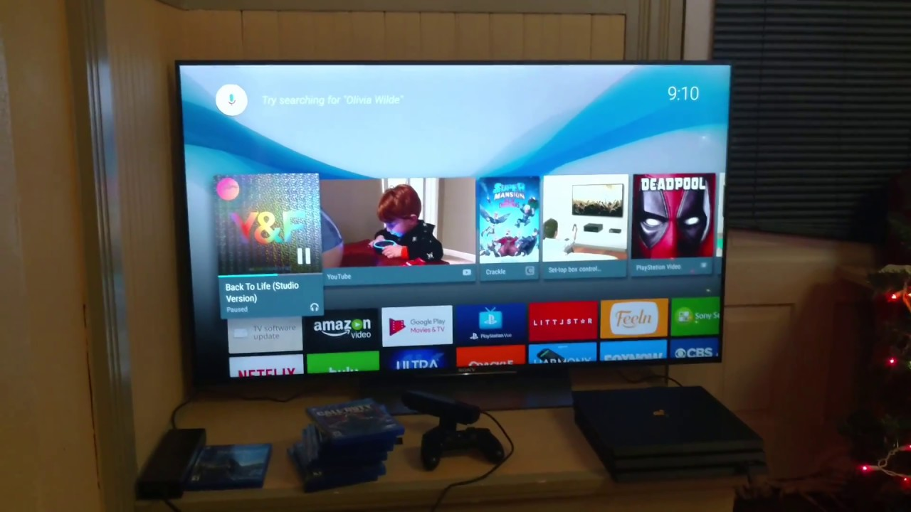 sony tv with ps4. short review of the sony x850d 4k tv and ps4 pro. with youtube