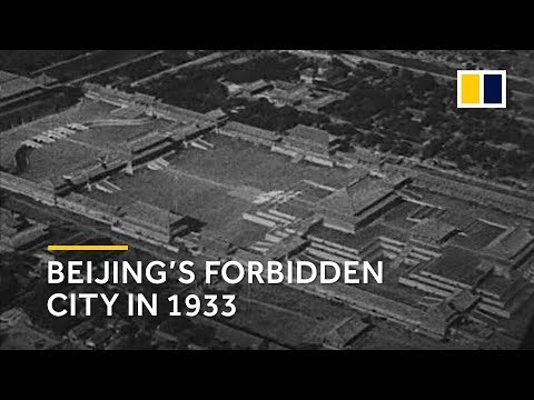 China: Beijing's Forbidden City by air in 1933
