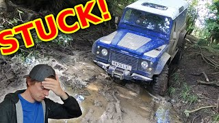 BIG Land Rover Gets STUCK in a Swamp (BROKE IT)