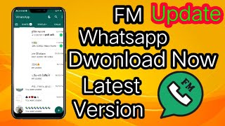 Gambar cover How to download FM whatsapp latest version // How to update FM whatsapp.