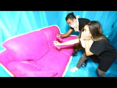 I spray painted my couch pink...