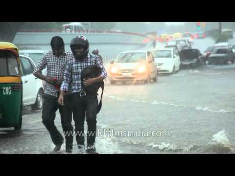 Delhi drenched in rain